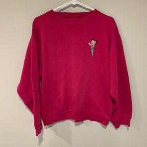 Vintage Betty Boop Pink Crewneck Size L